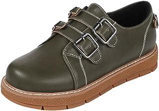 JOJONUNU Women Comfort Round Toe Loafers Shoes