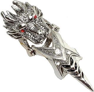 Zonster 1pc Gothic Punk Vollfinger Double Loop Ring Verbindungs-rüstungs-Ring Für Männer Frauen