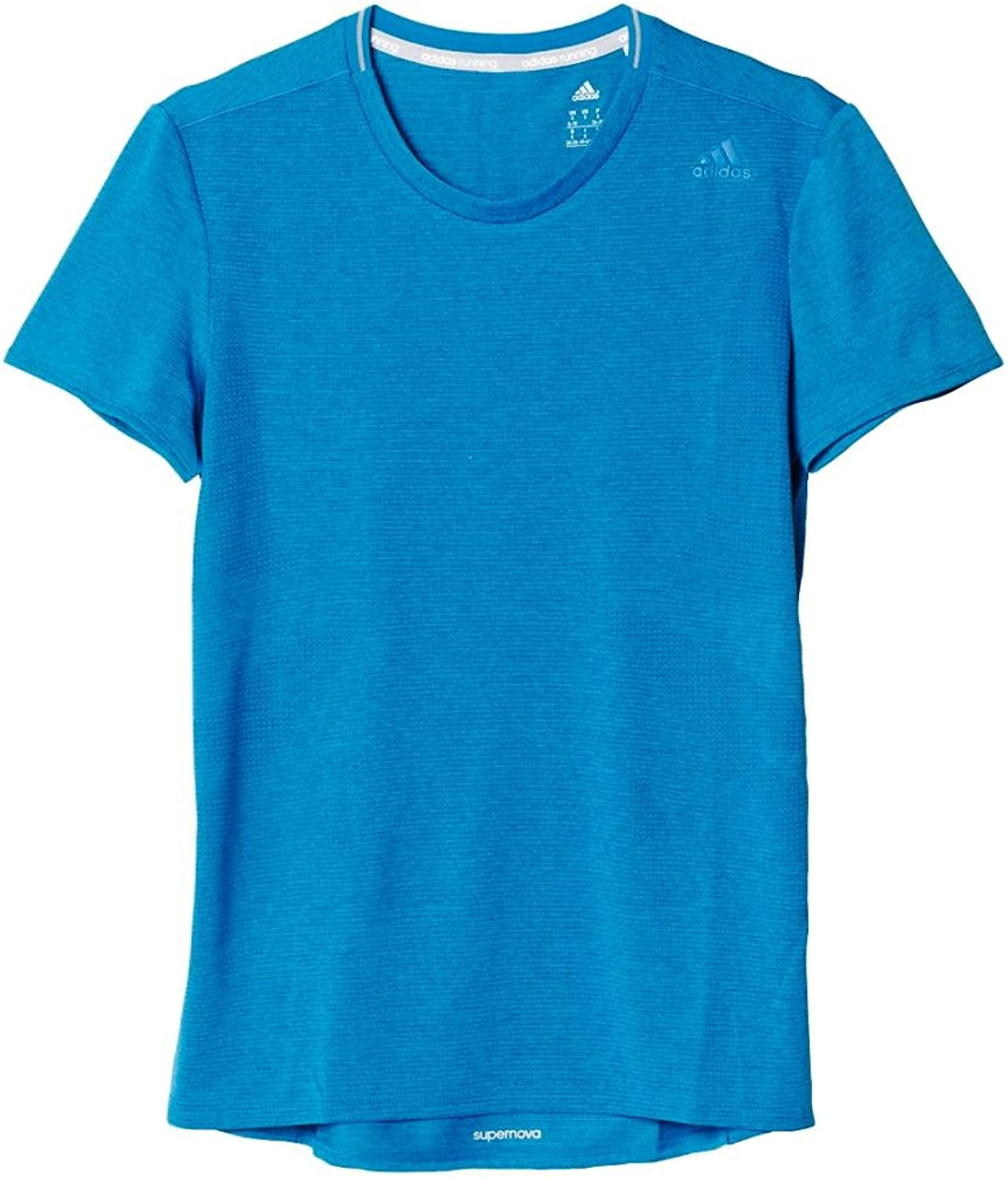 Adidas Women's Supernova Short Sleeve Tee, Unity bluee, Large