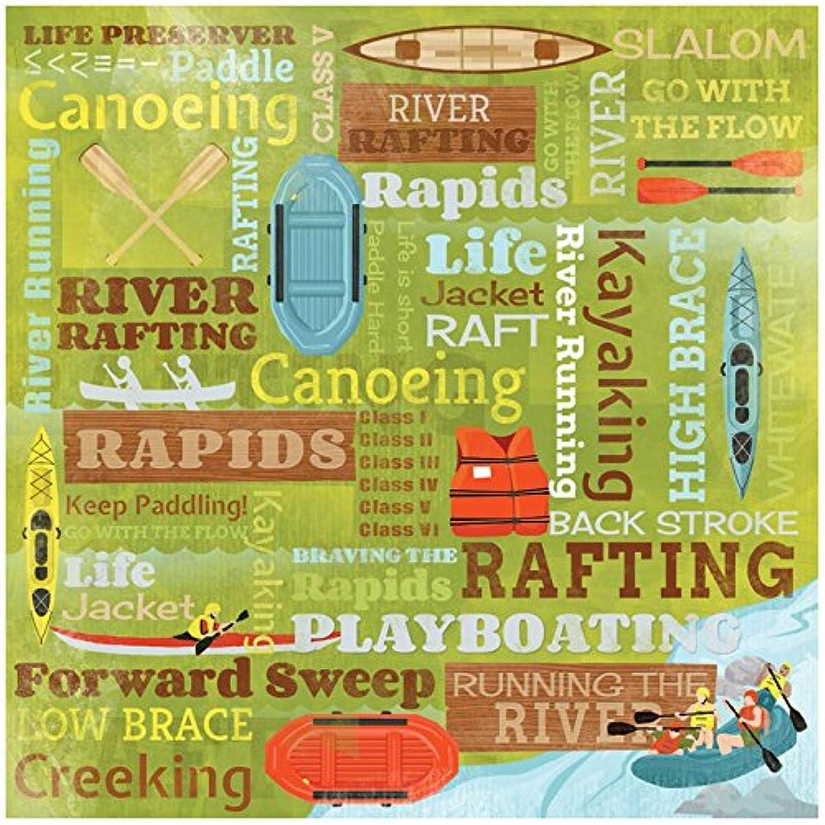 KAREN FOSTER Design Scrapbooking Paper, 25 Sheets, River Running Collage, 12 x 12