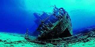 VIP.LINE Large Shipwreck Aquarium Background Poster HD Fish Tank Ornament Landscape