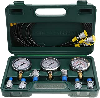Hydraulic Pressure Test Kit Excavator Tool with Testing Point Coupling and Gauge
