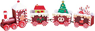 Fan-Ling Christmas Decoration Gift Christmas Train Decoration Decoration,DIY Home Garden Ornament,Mini Craft Landscape Decoration,Creative Crafts (Coffee)