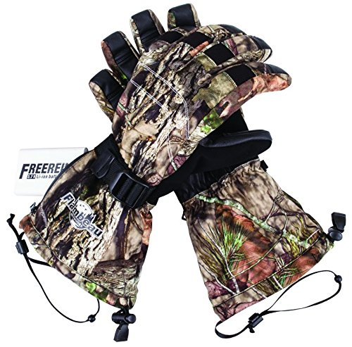 Flambeau Outdoors 3.7V Rechargeable Heated Gloves Kit-Synthetic Palm, Mossy Oak Break-Up Country Camo, Large