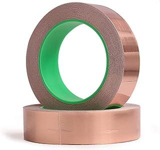 1 Roll Single Conductive Copper Foil Tape Adhesive EMI Shielding Mask 3mmX30M