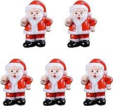 MagiDeal 5 x Père Noël Miniature en Résine Artificielle Bonsaï Paysagère Miniature Décoration Jardin Maison