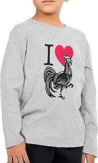 I Love Heart Cock Men Handsome Long Sleeve T-Shirt Classical Tshirt Helpshirt