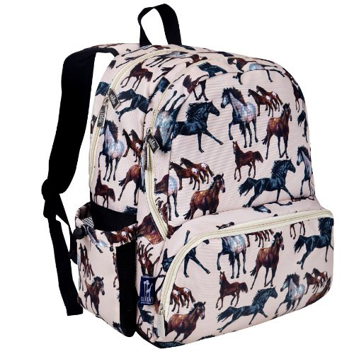 Wildkin Kids 17 Inch Backpack for Boys and Girls, Perfect Size for Middle, Junior, and High School, 600-Denier Polyester Fabric Kids Backpack Measures 17 x 12 x 9 Inches (Horse Dreams)