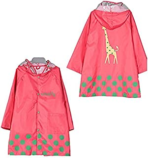 TopRen Kid Rain Coat, Cartoon Children Waterproof Raincoat, Lightweight for Ages 3-12 Years Old Girls and Boys 4 Size