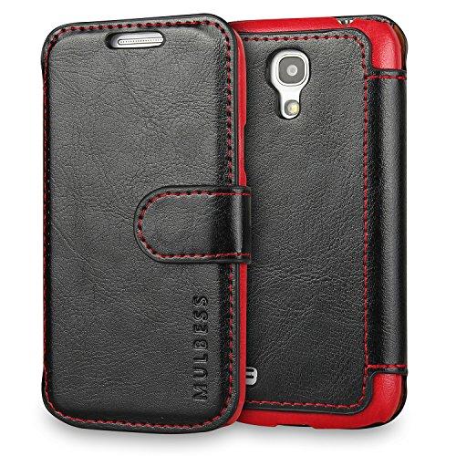 Mulbess Funda Samsung Galaxy S4 Mini [Libro Caso Cubierta] [En Capas de Billetera Cuero] con Tapa Magnética Carcasa para Samsung Galaxy S4 Mini Case, Negro