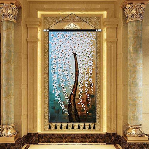 mmzki Klassische skandinavischen Stil übergroße Leinwand Malerei Landschaftsmalerei Kunst Dekoration Malerei Veranda Wohnzimmer Hintergrund Dekoration Rollbild Y 80X160CM