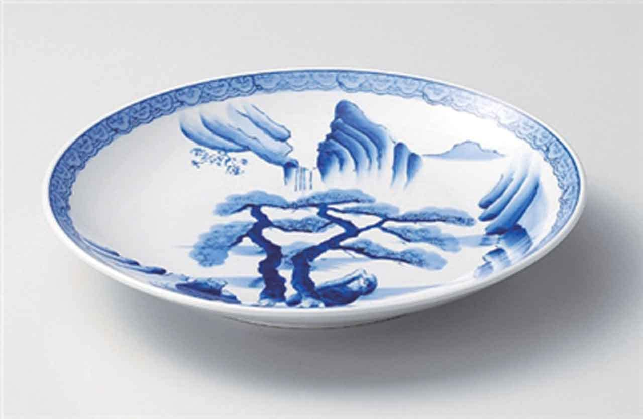 Sansui Max 62% OFF 10.6inch Set of 2 Large Japan Plates porcelain Made Max 66% OFF in