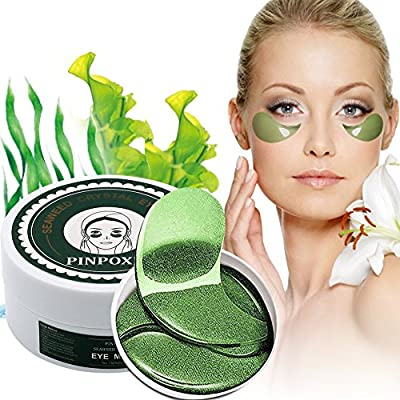 Under Eye Mask, Collagen Eye Pads, Eye Patches, Anti-Aging Under Eye Treatment Mask, Hydrogel Under Eye Patches For Brightens & Reducing Wrinkles, Dark Circles, Eye Bags and Puffiness,50 pcs by PINPOXE