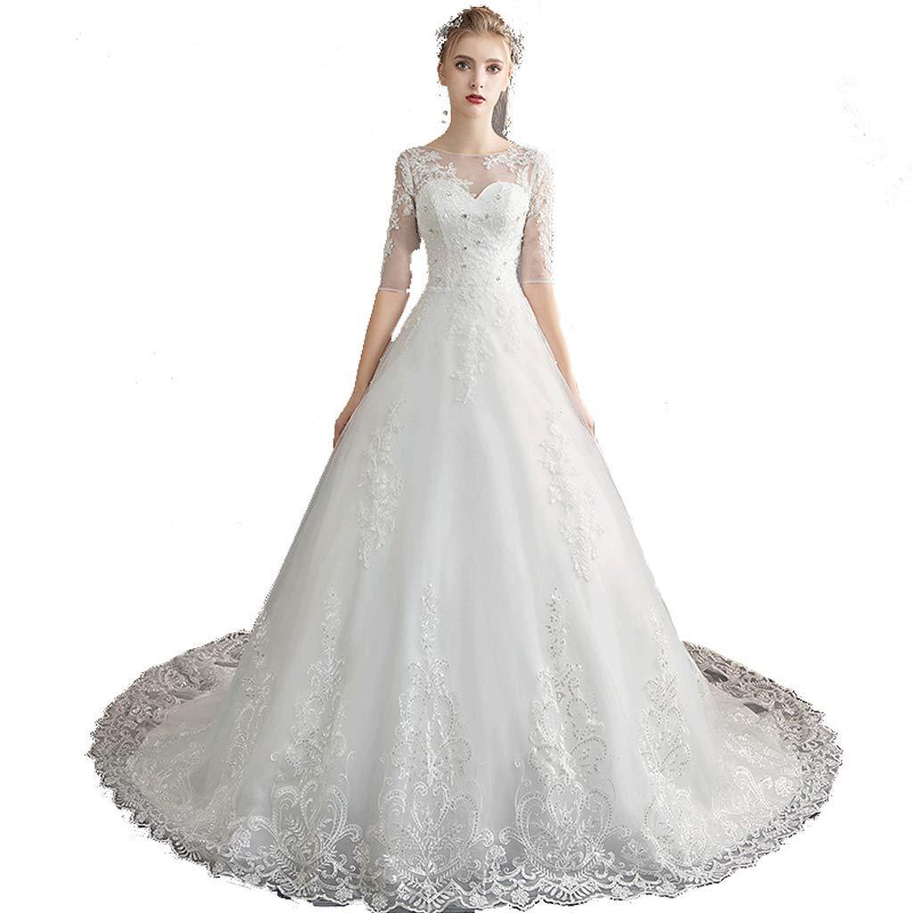 YC electronics Hochzeitsmode Damen Vintage Lace Braut Brautjungfer