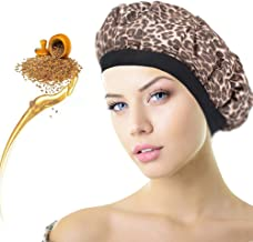 HistenOne Hair Heat Conditioning Cap Microwavable Cordless Deep Shower Steamer Bonnet Hot Thermal Head Treatment for Hair Therapy Styling Natural Cotton Flax Seed Interior for Max Heat Retention Chic
