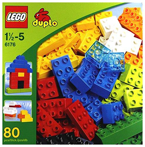 LEGO Duplo 6176 - Primi Mattoncini, 80 Pezzi
