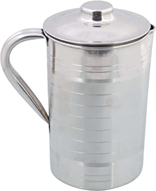 SKARS New Stainless Steel Water Jug Simple Design and with Lid Look Perfect on Dinning Table Cream Jug
