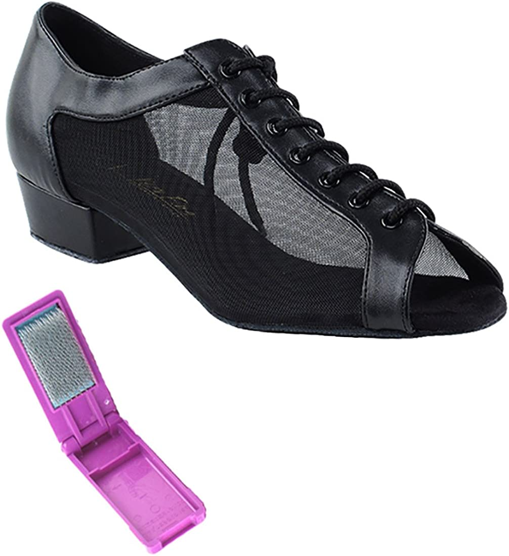 Very Fine Ballroom Salsa Practice Dance Bombing new work Shoes Max 74% OFF 1 1643FT for Women
