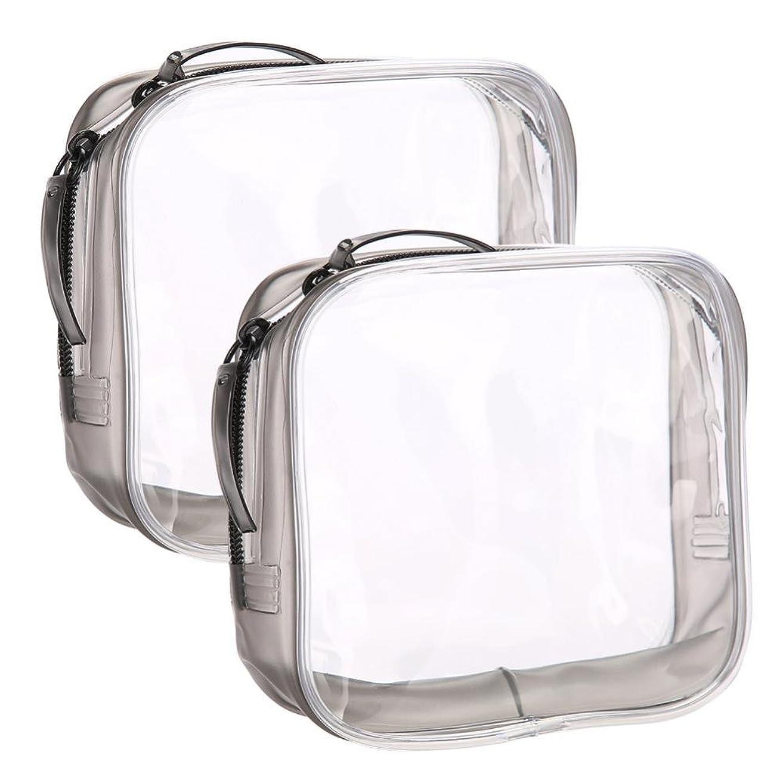 記念碑光病Acogedor 化粧ポーチ 化粧品収納バッグ 旅行用品収納バッグ 小物整理  透明 便利で実用 旅行や出張など携帯便利  二つのタイプ(小包)
