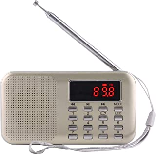 Digital Media Players Y-896 Portable Stereo LCD Digital FM AM Radio Speaker, Rechargeable Li-ion Battery, Support Micro TF...