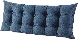 Almohadas for el Cuerpo cuña Cojín Decorativo for Cama Grande for Soporte de Espalda Cama de día Litera Cojín for sofá (Color : Blue, Size : 120 * 60cm)