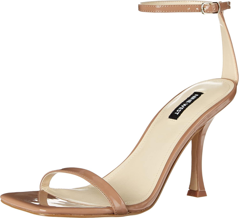 NINE WEST Women's Yess Heeled Sandal