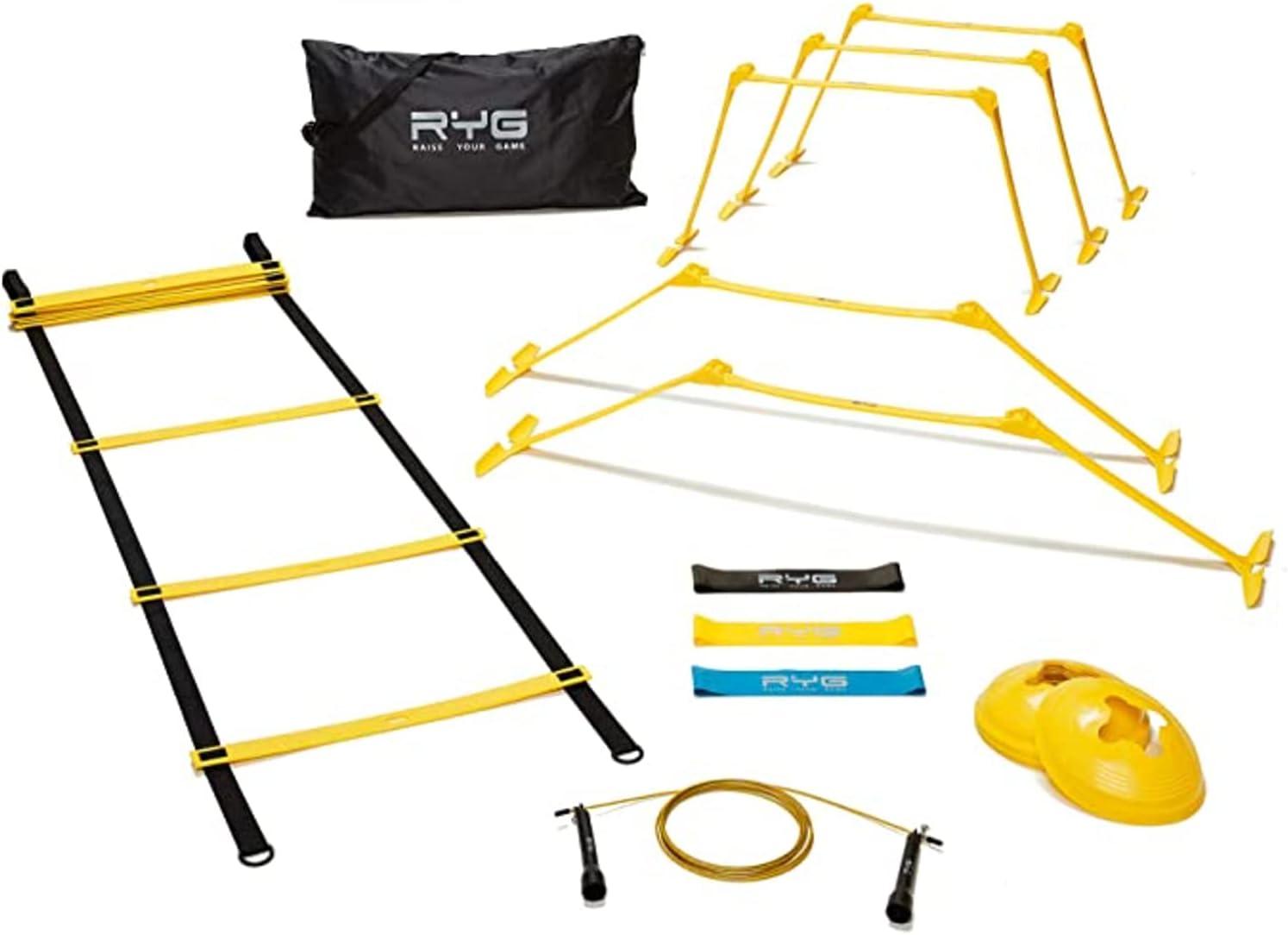 Raise Tulsa Mall Your Game Agility Ladder Speed RYG Colorado Springs Mall Set- 8 Cones Training