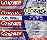 Colgate Total Advaned Whitening Toothpaste - 4 Tubes x 8 Ounces per...