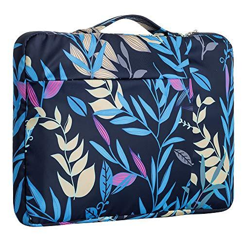 """15.6 Inch Laptop Sleeve Case Computer Bag,360° Protective Leather Waterproof Laptop Shoulder Bag,Handbag for Most Popular 14""""-15.6"""" Notebooks"""