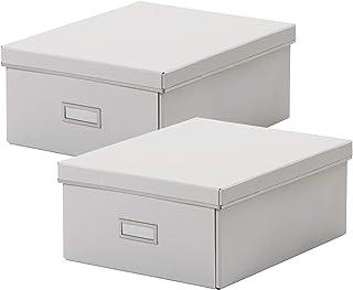 comprar comparacion Ikea SMARASSEL - Juego de 2 cajas de almacenamiento (tamaño A4, 27 x 35 x 15 cm), color blanco, Cartón., Blanco, 2 unidades