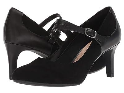 Clarks Dancer Reece (Black Suede/Leather Combination) Women