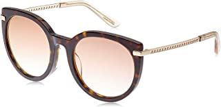 Jimmy Choo Round Sunglasses for Women - Brown & Silver Lens (DENA-F-S 086/JL)