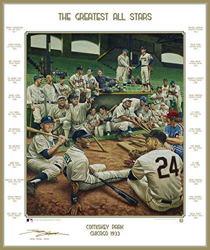 Baseball's Greatest All-Stars Dream Scene Lithograph Photo - By Artist Jamie Cooper