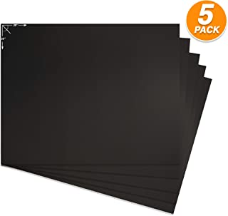 Emraw Poster Board Lightweight Craft Backing Boards for Presentations Office Sign Blank Painting Board Smooth Surface Poster Sheets for School Pack of 5 (Black)