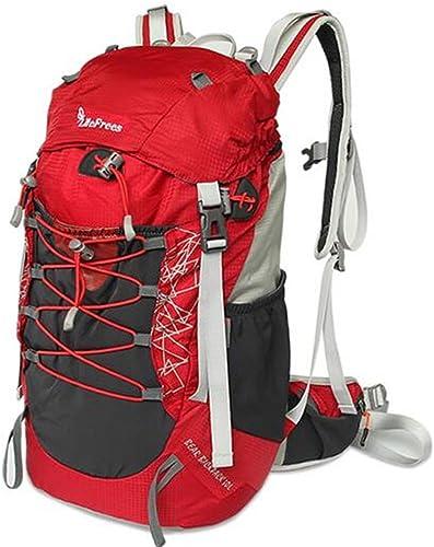 Sac à dos randonnée sac hommes et les femmes forfait alpinisme randonnée de camping en plein air 30L épaule Sacs à dos de randonnée ( Couleur   Rouge , taille   30L )