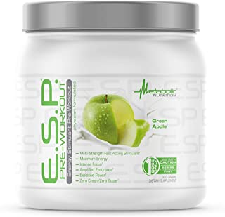 Metabolic Nutrition - ESP - Stimulating Pre Workout, Pre Intra Workout Supplement, Energy and Endurance Stimulating, Natur...