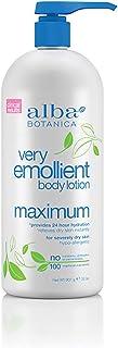 Alba Botanica Very Emollient Body Lotion, Maximum Dry Skin Formula, 32 Oz
