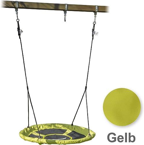 BullPower Nestschaukel Tellerschaukel Rundschaukel Kinderschaukel bis 150kg -  10cm