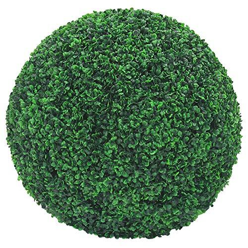 Decovego Buchsbaum Kugel Plastikpflanze Künstliche Pflanze Buxus Deko Ø55cm Innen und Aussen