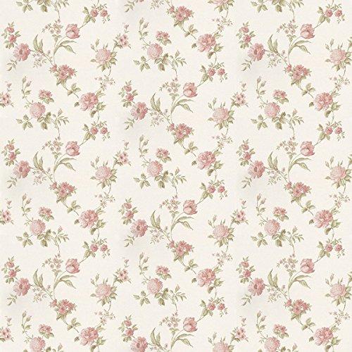 MyTinyWorld 5 Stück Puppenhaus gemischten pink Blumen auf helles weiß Tapete Blätter