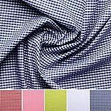 Vichy-cuadros - Algodón - Por metro - 5 colores (azul)