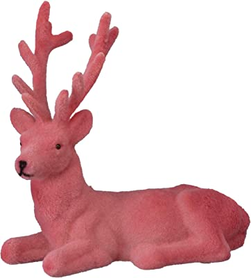 Primitives by Kathy Laying Deer - Coral - Holiday Figure 7.5 inches x 4.75 inches