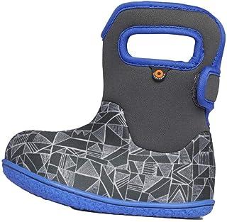 BOGS Baby Waterproof Insulated Snow Boot, Maze Geo -Gray Multi, 9