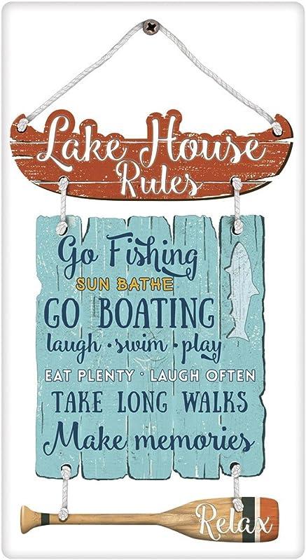Mary Lake Thompson Lake House Rules Cotton Flour Sack Dish Towel