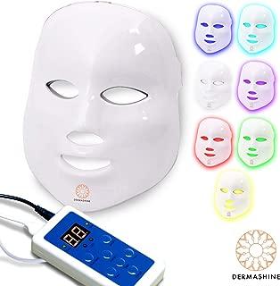 Dermashine Pro 7 Color LED Face Mask | Photon Red Light Therapy For Healthy Skin Rejuvenation | Collagen, Anti Aging, Wrinkles, Scarring | Korean Skin Care, Facial Skin Care Mask