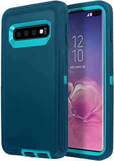 Galaxy S10+ Case, AICase [Heavy Duty] 3 in 1 Shockproof Case, Drop Proof, Soft TPU+ Hard PC Hybrid Truly Dustproof Water-Resistance Armor Protective for Samsung Galaxy S10+ (Dark Blue)