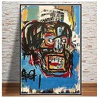 BGGGTD ポスター ポスターとプリントグラフィティモダンストリートアーティストキャンバス絵画壁アート写真ヴィンテージポスター装飾家の装飾タブロー壁-50x70x1フレームなし