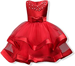 Cosplay-X Girls Lace Bridesmaid Dress Wedding Pageant Dresses Tulle Party Gown Age 3-9Y