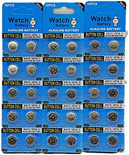 SkoTeRy 30 Pack AG13 LR44 357 303 SR44 1.5V Battery Button Coin Cell Batteries
