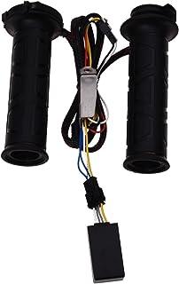 SODIAL(R) 調節可能 オートバイ加熱グリップ オートバイ/自転車ハンドルバーホット/ウォームハンド用 ホットグリップ